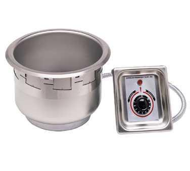 Item 6 - DROP-IN HOT FOOD WELL UNIT, ELECTRIC (1 REQ'D) APW Wyott Model SM-50-11D UL Food Warmer, drop-in, electric, 11-quart round pan with drain, 12-1/2 dia.