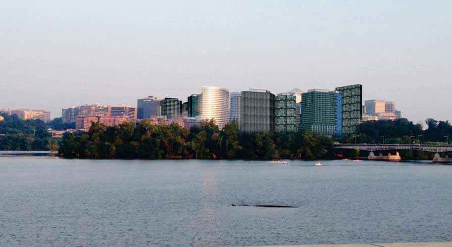 The skyline from afar: Rosslyn