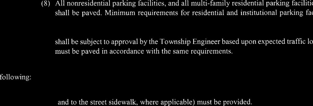 ARTICLE XIII Section 140-45. Parking facilities, subsection C.