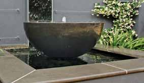 liquidserenity water-features An effective water-feature can be as easy as a Zen bowl with pebbles and waterplants, or simply install one of our waterfeature packages for fast and easy set-up.