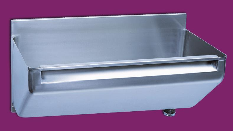 Trinidad - HTM64 Scrub up trough Trinidad surgeons scrub up trough, manufactured from 1.5 <304> grade stainless steel with a highly polished finish and fully compliant to HTM64.