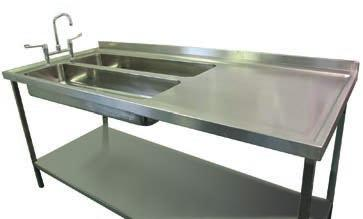 Typical design measures 2200mm x 750mm, with two troughs 1095mm x 300mm x 150mm deep, supplied with sound deadening pads and integral earth tag.