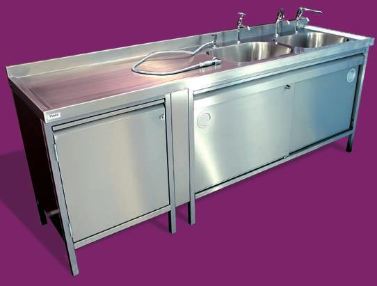 Grenada - Endoscopy sink Endoscopy cleaning sinks. Double bowl with single handed drainer or double drainer double bowl formation.