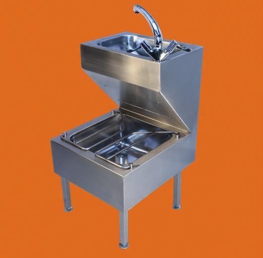 Samoa - HTM64 Janitorial unit Samoa is a free standing combination of washbasin and bucket sink. Supplied with adjustable feet, hinged grid, polished bowl, monobloc swivel mixer tap and waste kit.