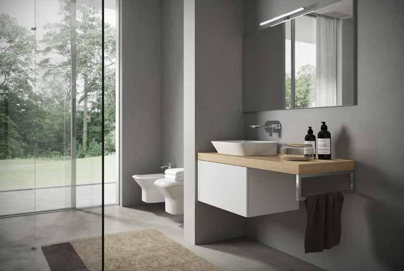 Prua Sit-On / Wall-Hung Basins Sit-On / Inset Basins 65cm Wash Basin Sit-On / Wall-Hung. Size: 65x45x18cm.