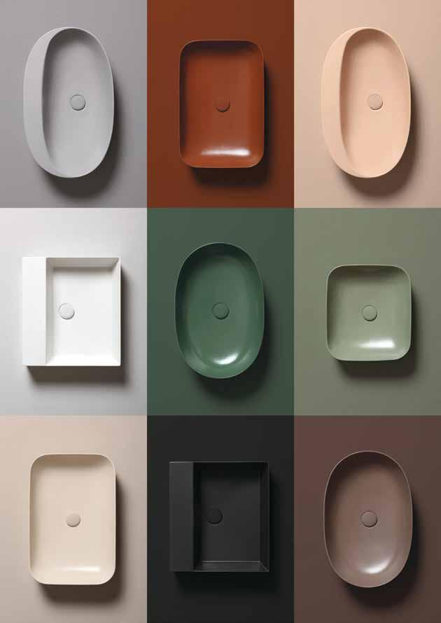 Sit-On Basins Circle Ceramic Colours 1250 Special Order Colour Options 40cm Wash Basin Sit-On Size: 40x14cm Weight: 9kg 391 ECI40B1 60cm Wash Basin Sit-On Size: 60x40x14cm Weight: 10kg 491 ECI60B1