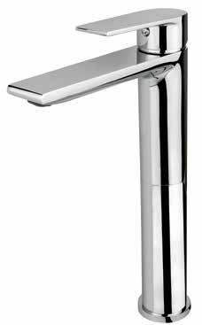 Height 23cm 130 BPR1020 Wall-Mounted Basin Taps Single-lever basin