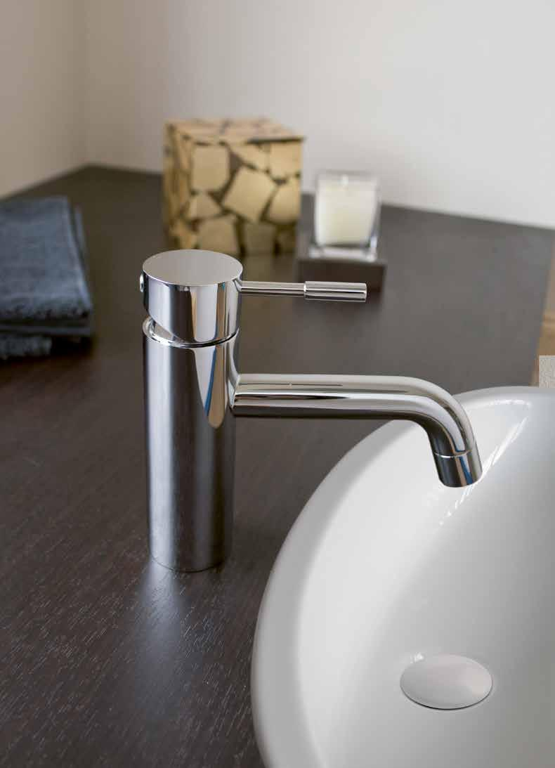 NB: Basin mixer taps have been adjusted to operate on both Low and High