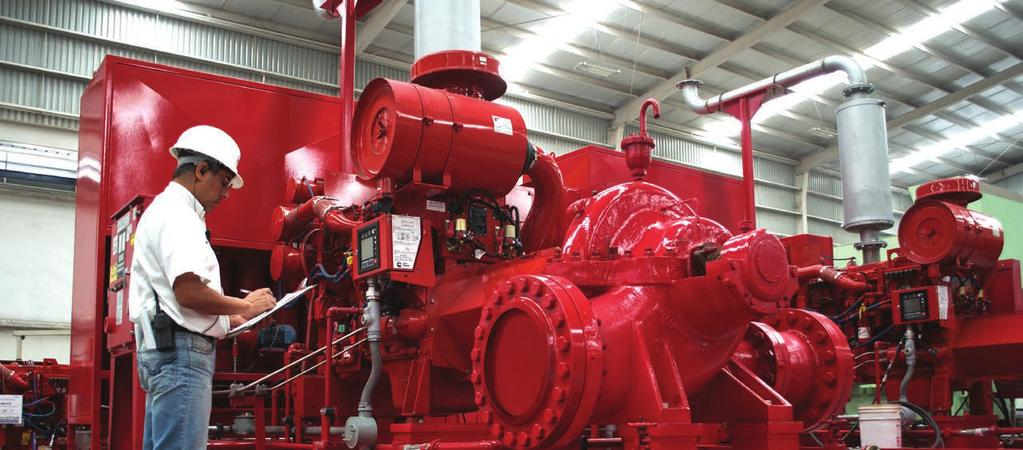 Before it s painted red... Nothing is left to chance with a Ruhrpumpen fire pump system.