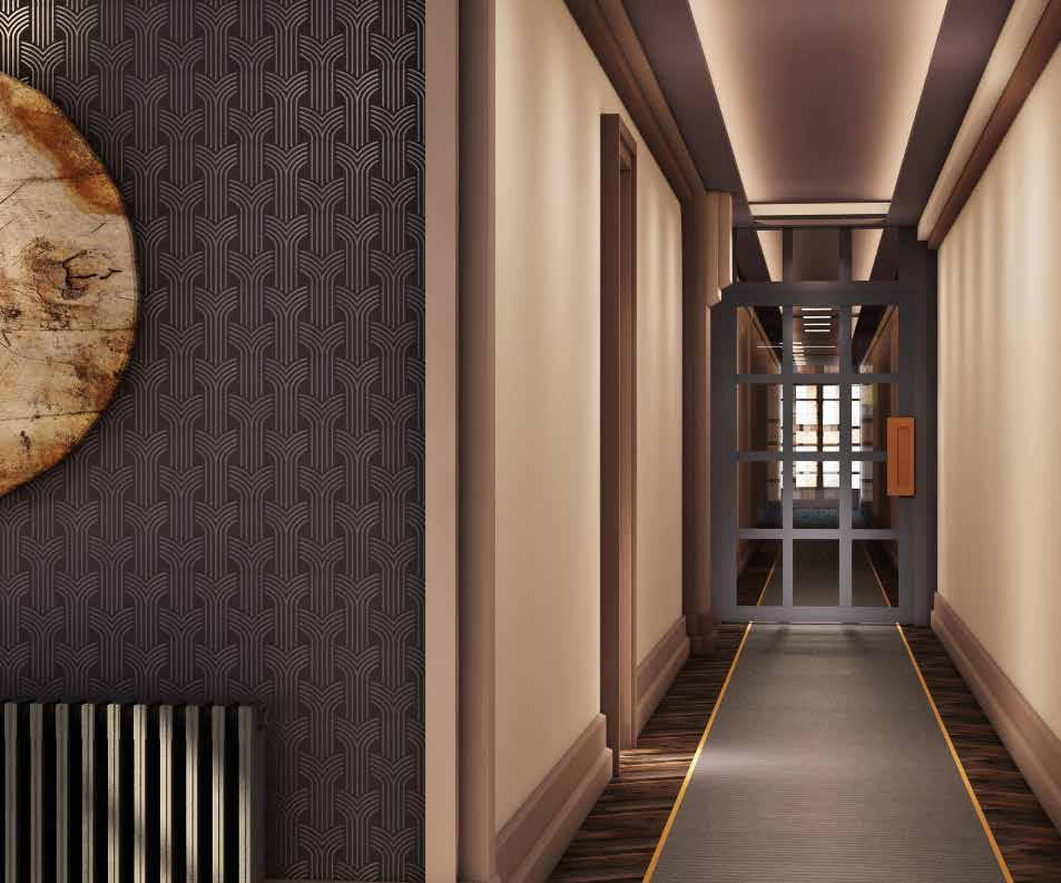 Paramount court th floor corridor design concept render
