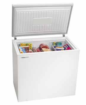 SRING-LOADED lid A lightweight, sturdy, spring-loaded lid that stays open to free both your hands. The lid also provides an airtight seal, ensuring your freezer always runs at its most cost efficient.