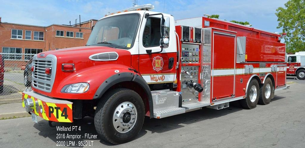 Welland Pumper-Tanker 4 now has a 2016 Freightliner/Arnprior rig with a