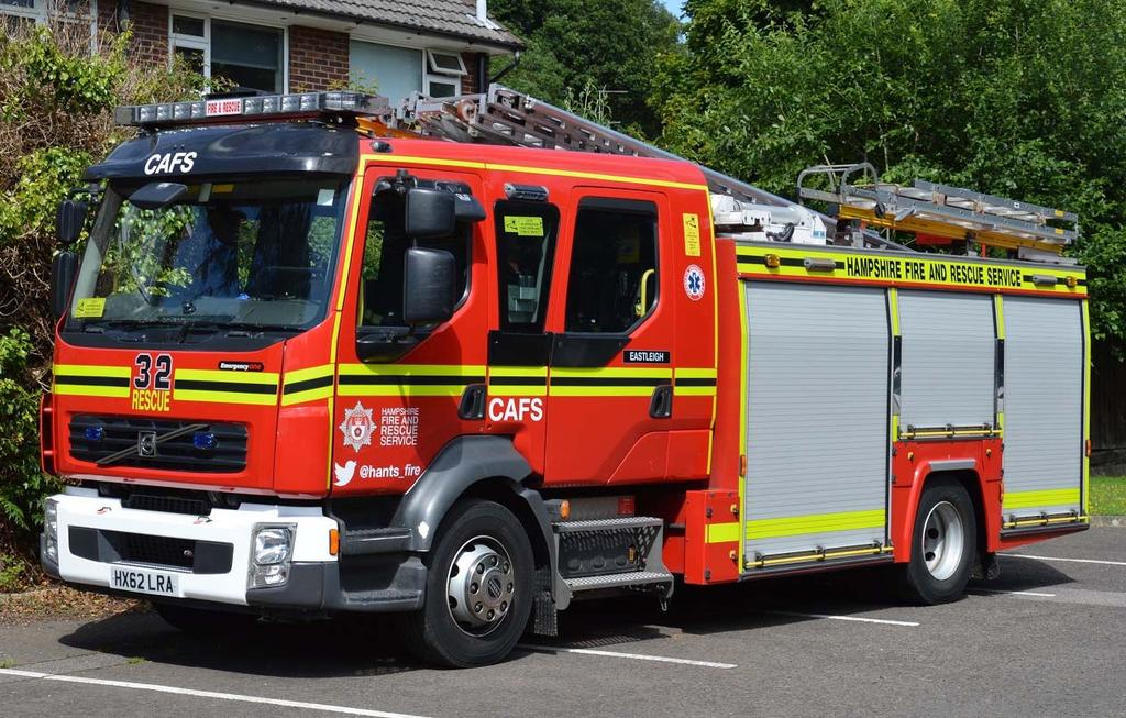 The standard Rescue Pump of which Hampshire currently have 17 is based upon the Volvo FL260 chassis