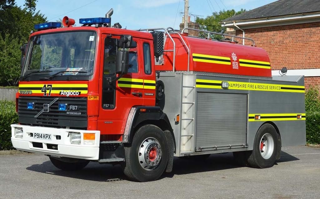 8000 litres of water based upon either the Volvo FS7 or FL618 chassis with bodywork by