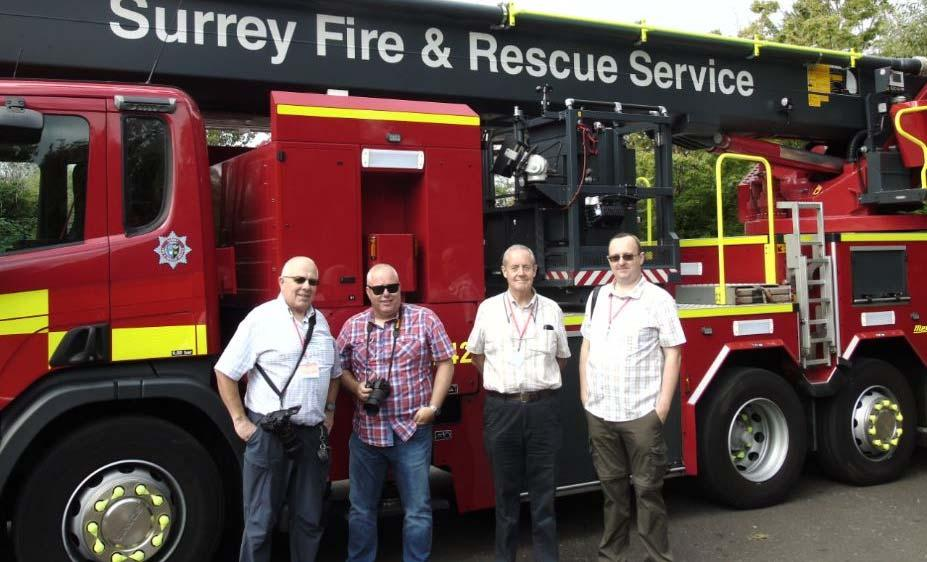 (Photos supplied by Colin Carter) The four UK OFBA members: left to right Simon Adamson, Colin