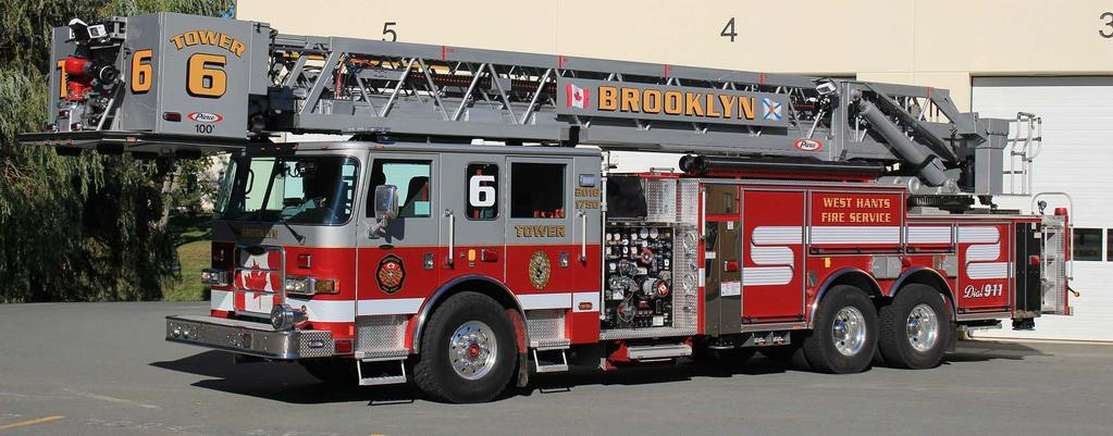 Squad #3 for Brooklyn, Hants County, NS is a 2016 Pierce Enforcer XT 1250igpm/640gwt s/n #29315.