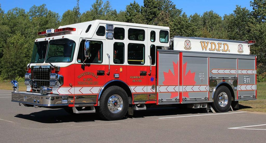 Waterville and District FD in Kings County, Nova Scotia operates from 2 stations.