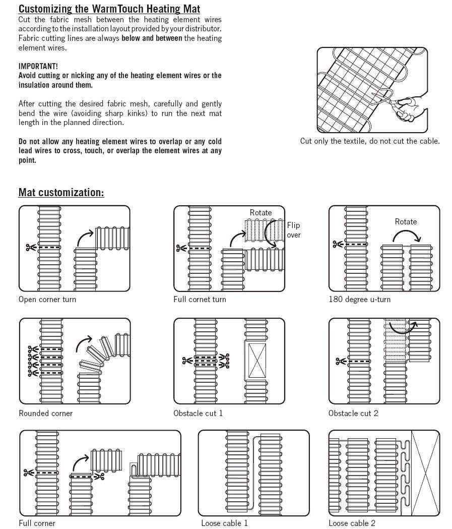 Classic Mats Installation Manual Pdf Devimat Wiring Diagram Element Spacing Coverage Recommendations Dimension A And B Should Be Equal When Possible