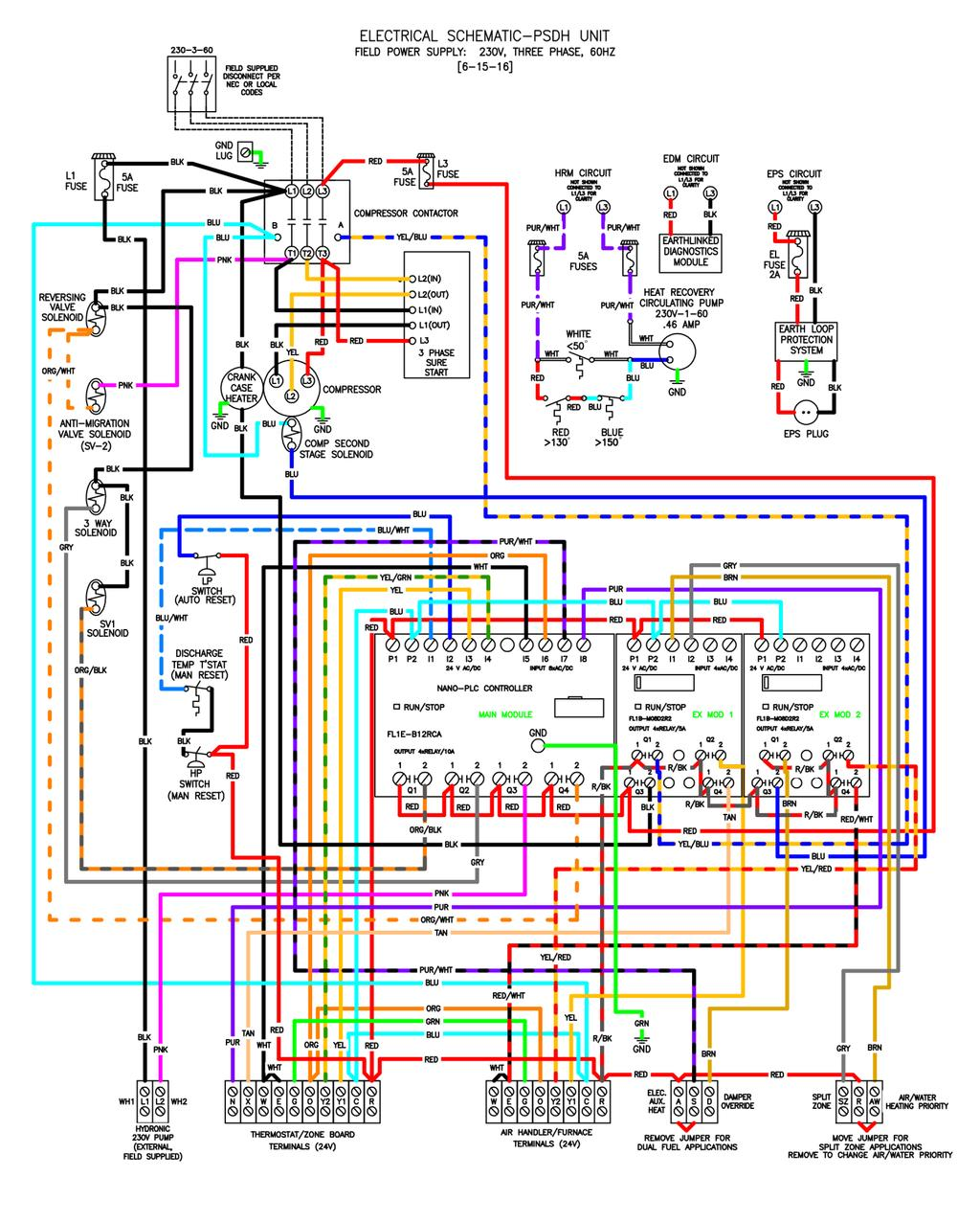 Prime Series Psdh Geothermal Heating And Cooling System Pdf Figure 17 Air Compressor Wiring Diagram 8b