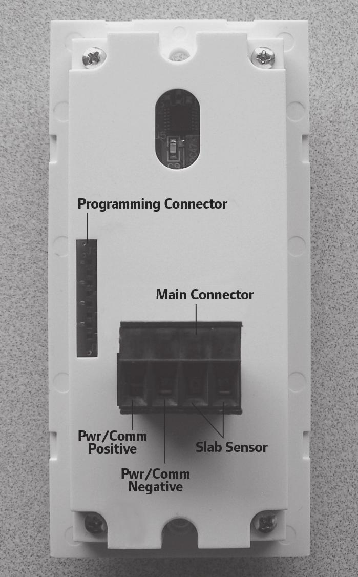 Uponor Climate Cntrol Network System Thermostat Installation And White Rodgers Wiring 1f82 51 The Slab Sensor Connect Two Wires From To