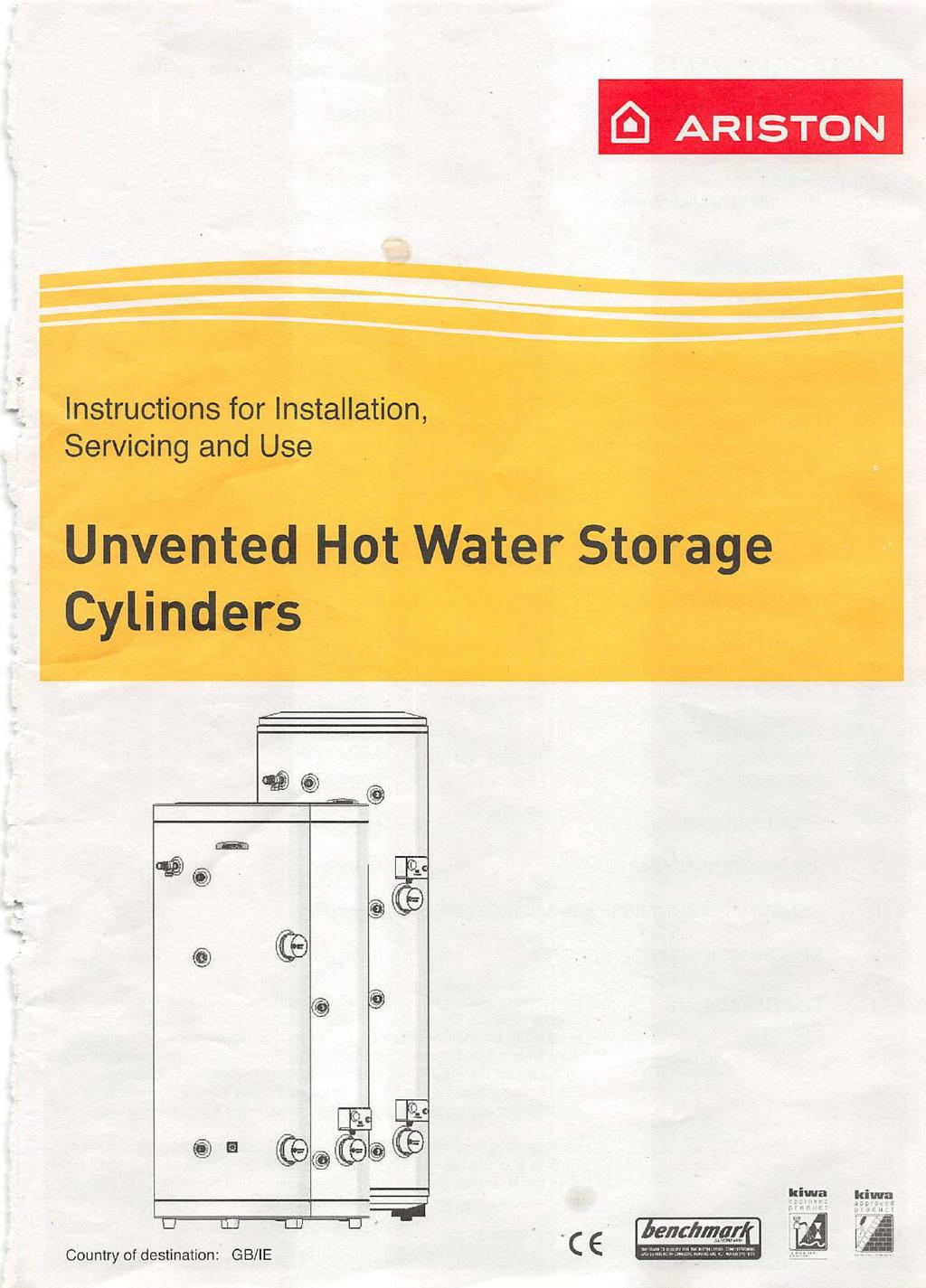 Unvented Hot Water Storage Cylinders - PDF