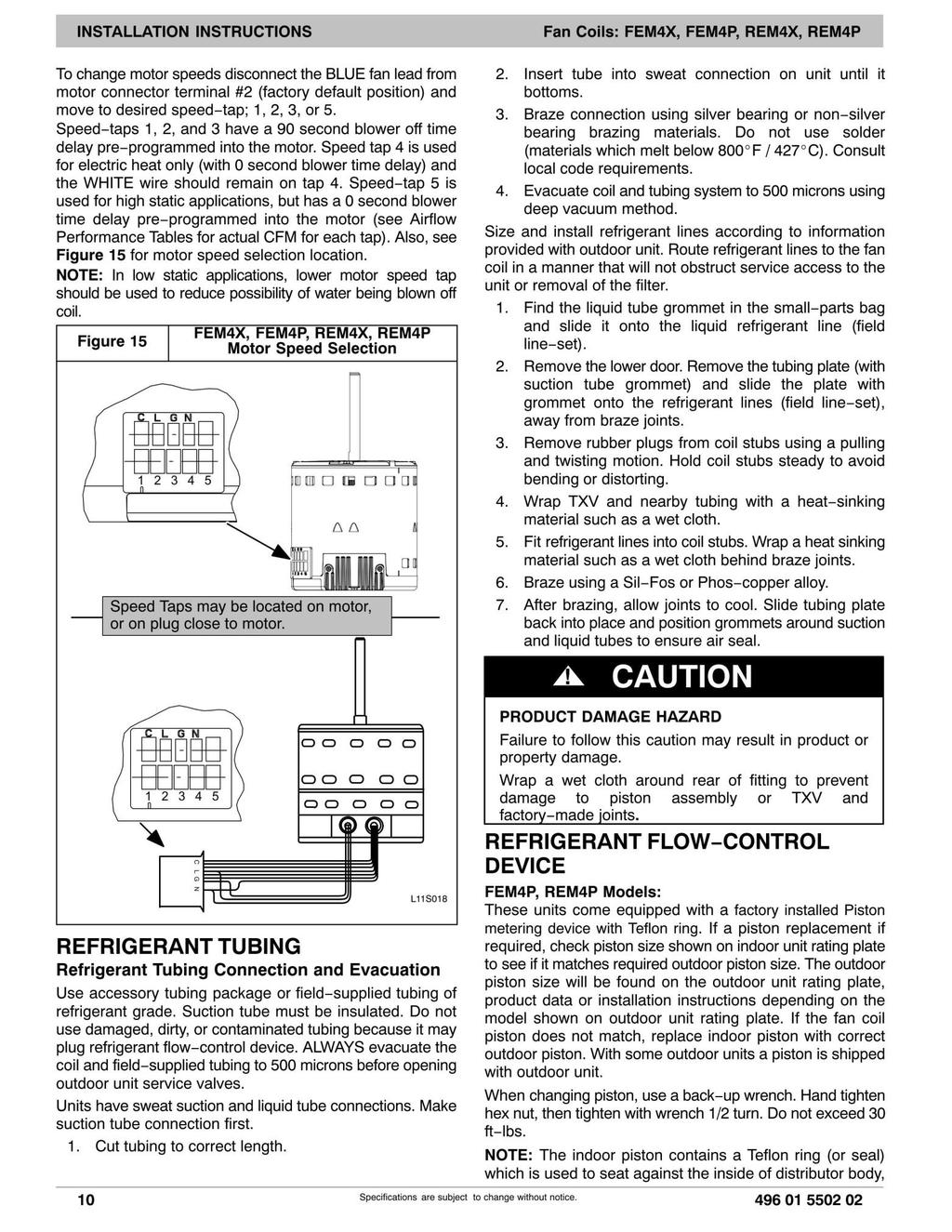 AVS Air Handlers Prime PSC, PSD, PSDH and Classic SC, SD, and SDH - PDF