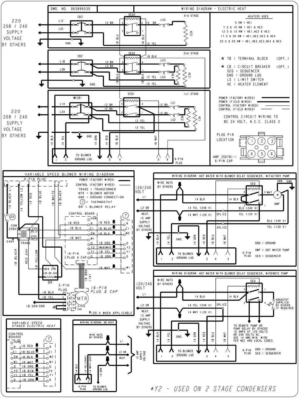 R Series Multi Position Air Handler Electric Or No Heat With High Efficiency Wiring Diagram D Is C O N Ti U Ed Variable Speed
