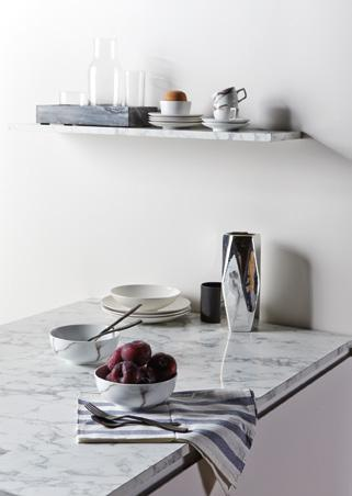 It's easy to fall in love with Calacatta marble. LIFE'S LITTLE LUXURIES From time immemorial, it has had many under its spell, and now everyone can enjoy its enduring elegance at home.