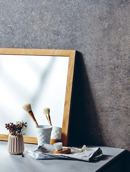 LAMINATE LUCA MARMO FLAVIO DXP 1334K MARKED BY TIME 97 Reflect mirror, and Como concrete