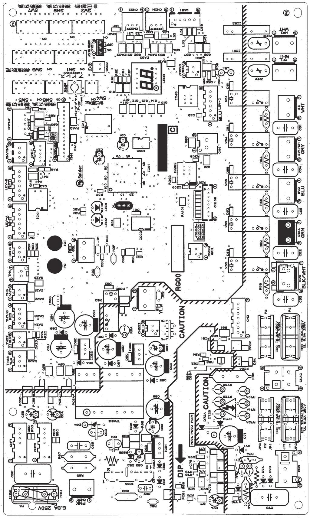 Service Manual R410a Split Type Heat Pump Air Conditioners Mitsubishi Msz Wiring Diagram Outdoor Controller Circuit Board Puhz P00vha3r