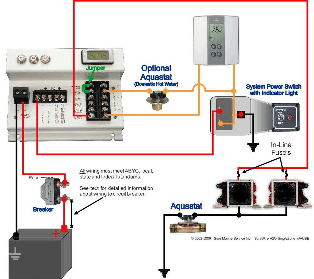 Dbw 2010 Installation Guide Pdf Indeeco Electric Heater Wiring Diagram Free Download Electrical System Single Zone Example There Are 3 Barrier Strips On The Surewire Board For