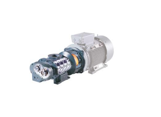 This enables the drive and compression units to be linked via a maintenance-free coupling, which avoids the transmission losses associated with gear driven units.