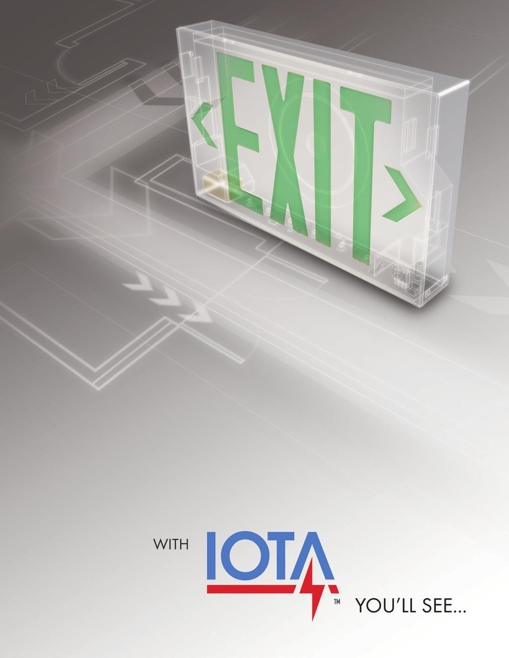 Iota Exit Signs Emergency Fixtures Pdf Ballast Wiring Diagram Style And Option Features To Meet Your Application Requirements Bright Efficient Long