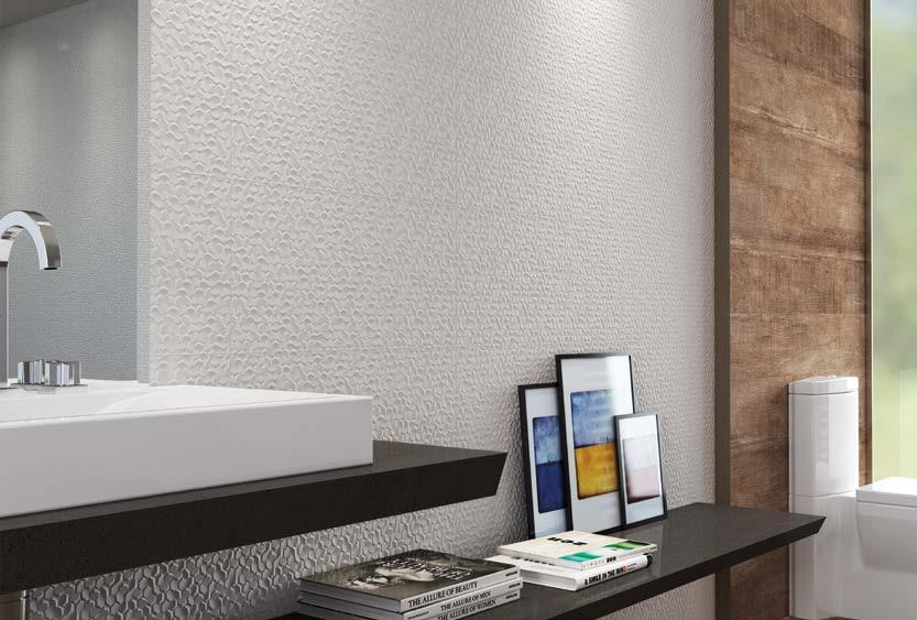 STUDIO HD Wall tile Pared Inspiring relief with natural references add refinement and personality to ambients.