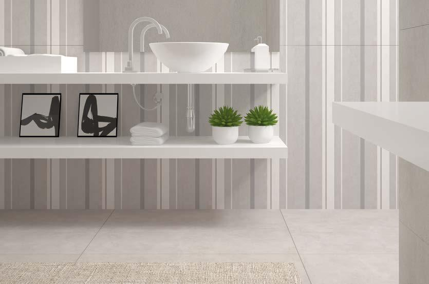 porcelain tiles, adding practicality and