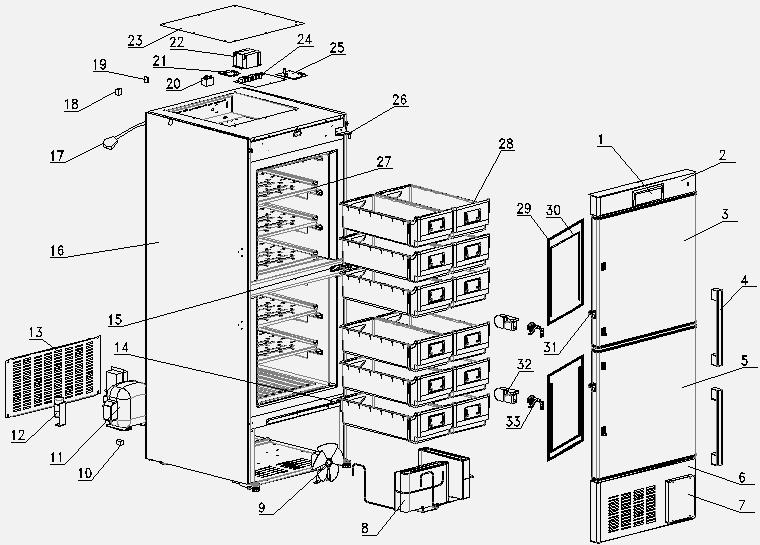deep freezer upright pdf Refrigerator Run Capacitor Wiring Diagram dw 40l348 exploded view dw 40l348 spare part list no
