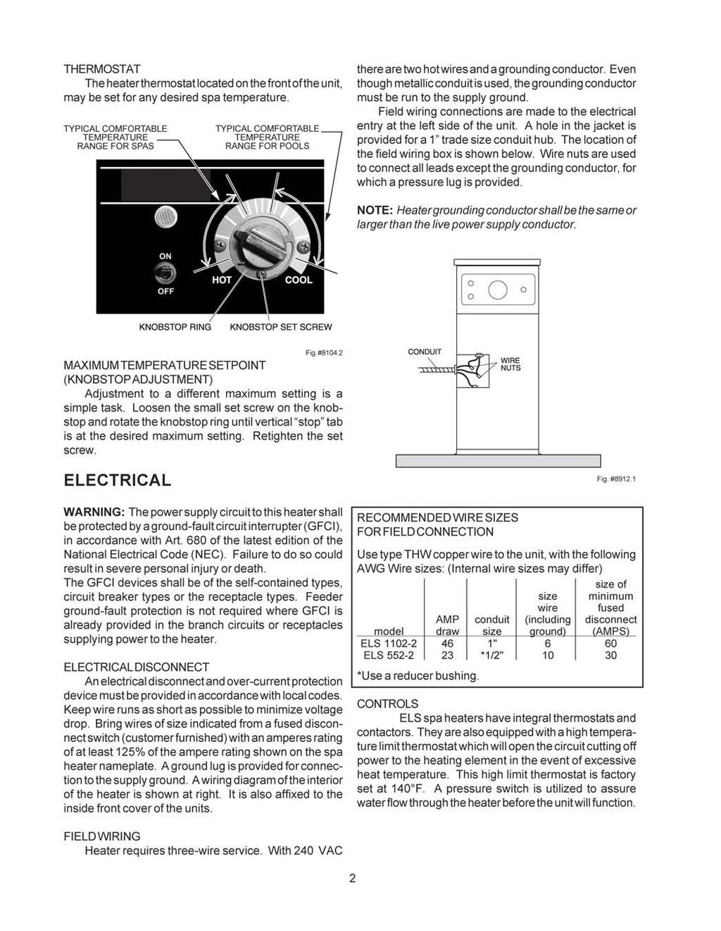 Electric Heater Technical Bulletin No Pdf White Rodgers Thermostat Wiring 1f82 51 Page 8 Of