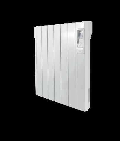 A stylish aluminium radiator with electronic seven-day time and temperature control.