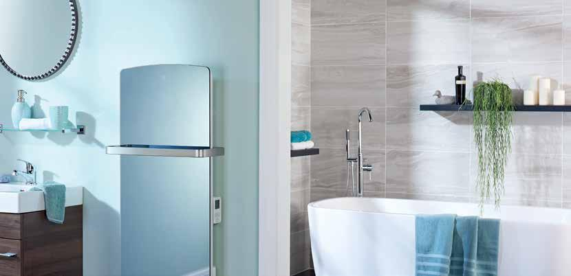 A Glen Dimplex Heating & Ventilation Brand Bathroom panel heater This stylish new bathroom heater provides high-comfort convected heat and warming radiant heat with the added convenience of an