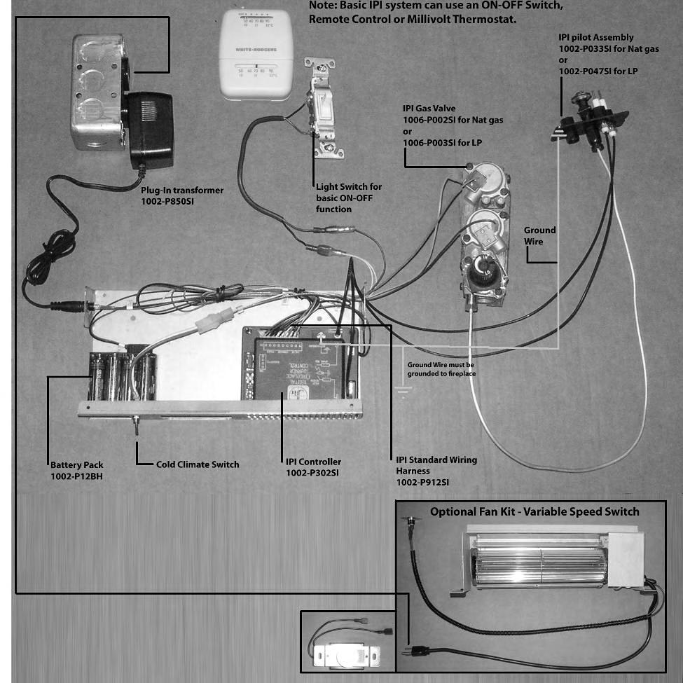 Installation Instructions Model Number Vrb46 Zero Clearance Vented Gas Fireplaces Electrical Wiring Configuration 1 Basic Manual
