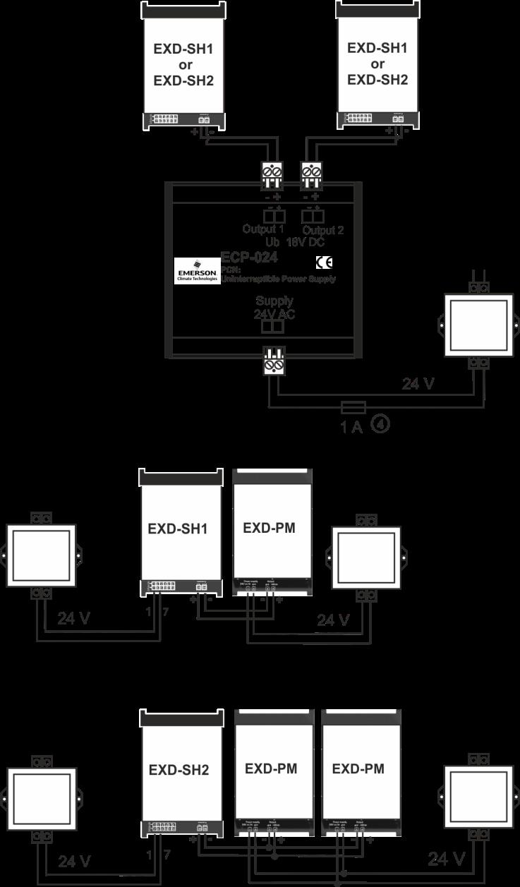 Exd Sh1 2 Controller For Ex Fx Cx With Modbus Communication Ecp Wiring Diagram Options Ups 024 Supercap Pm
