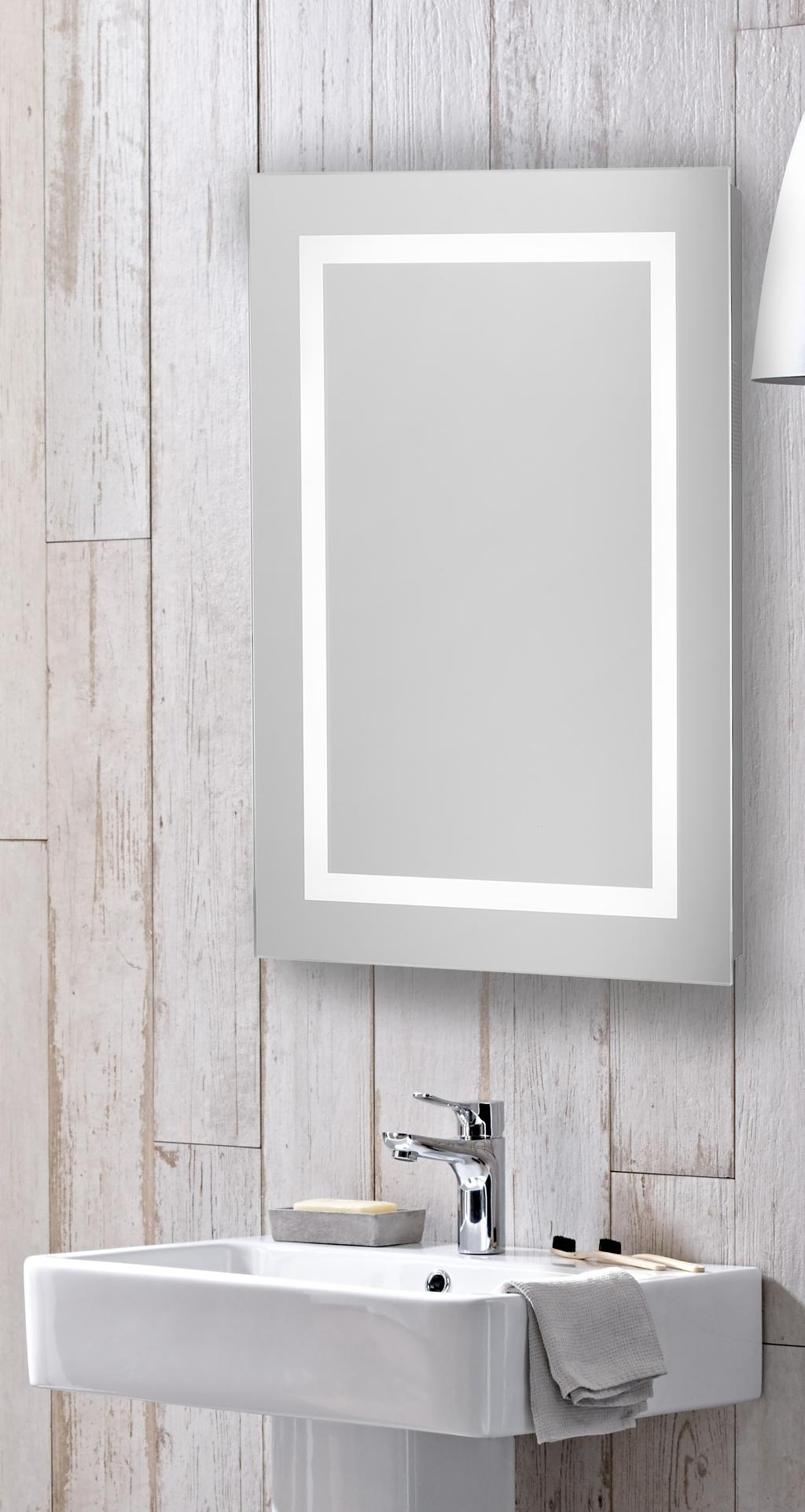 Nook Double Door Cabinet with Integrated LED Lighting Aluminium 650 ...