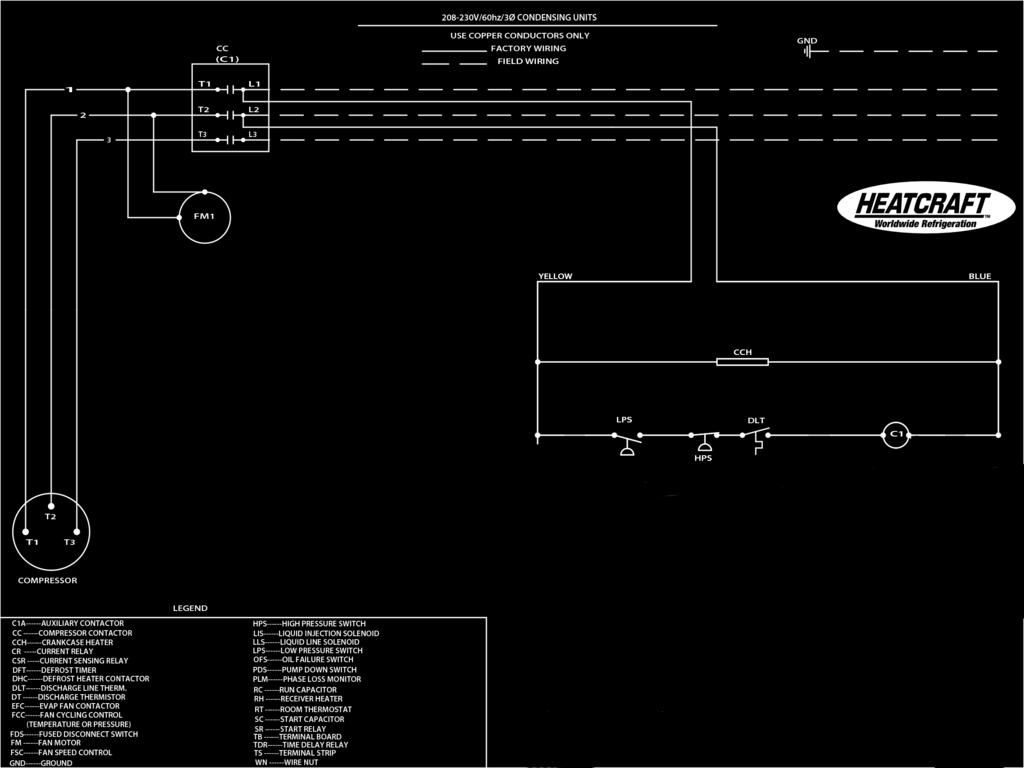 Installation And Operation Manual Pdf Refrigeration Plants Wiring Diagrams Typical Condensing Unit Diagram 208 230v 60hz 30