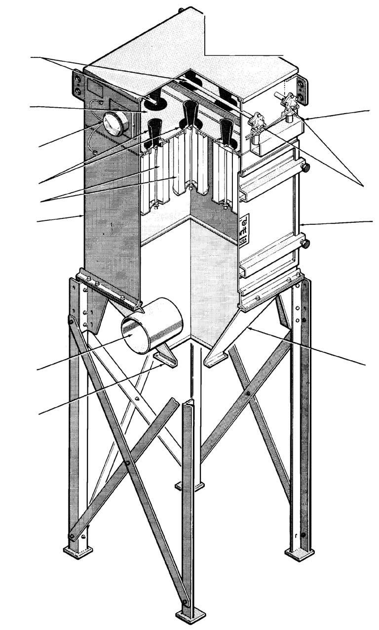 Installation And Operation Manual Pdf Master Flow H1 Humidistat Wiring Diagram Donaldson Company Inc Blowpipes Note The Model Td486 Dust Collector Is Used For