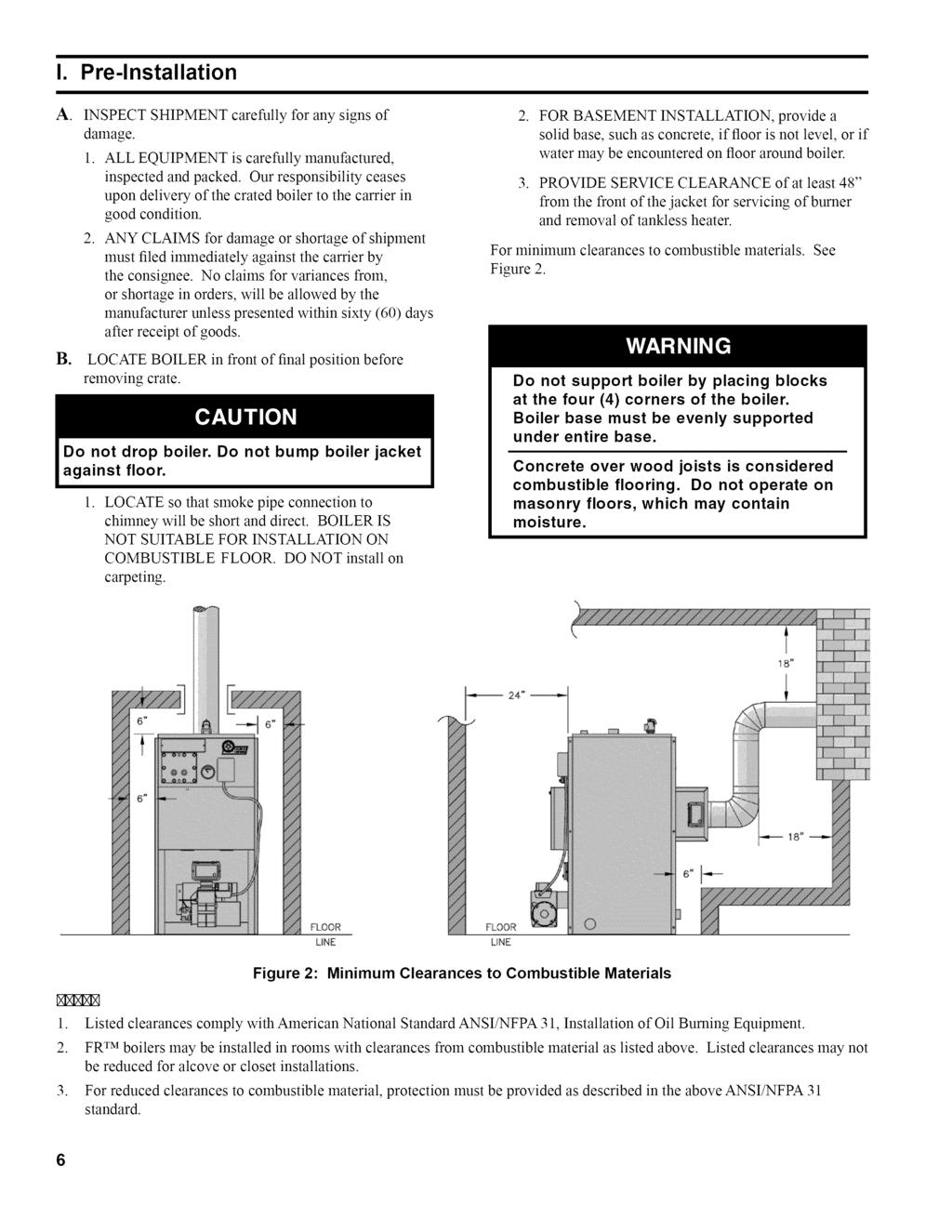 Installation Operating And Service Instructions Fr Rmseries Honeywell L7224 Wiring Diagram I Pre Lnstallation A Inspect Shipment Damage Carefully For Any Signs Of