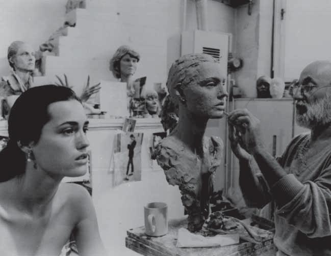 202 Sculpting A mannequin begins as a clay sculpture; most mannequins are modelled on real people. At Rootstein the model sits for the sculptor for a two-hour sitting every day for three weeks.