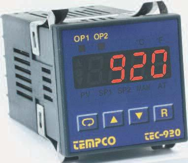 Model TEC-920 1/16 DIN Model TEC-920 1/16 DIN Temperature Controller Single Display, Configurable for 2 Programmable Outputs! List Prices Starting at $153.85 Quantity Discounts Available!