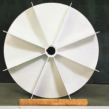 This impeller has an efficiency of up to 80%.