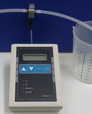 3. Calibrate Flow meter(s) Complete parameter set-up before calibration. Calibration liquid should be the same liquid intended for use. Procedure for Automatic calibration: 1.