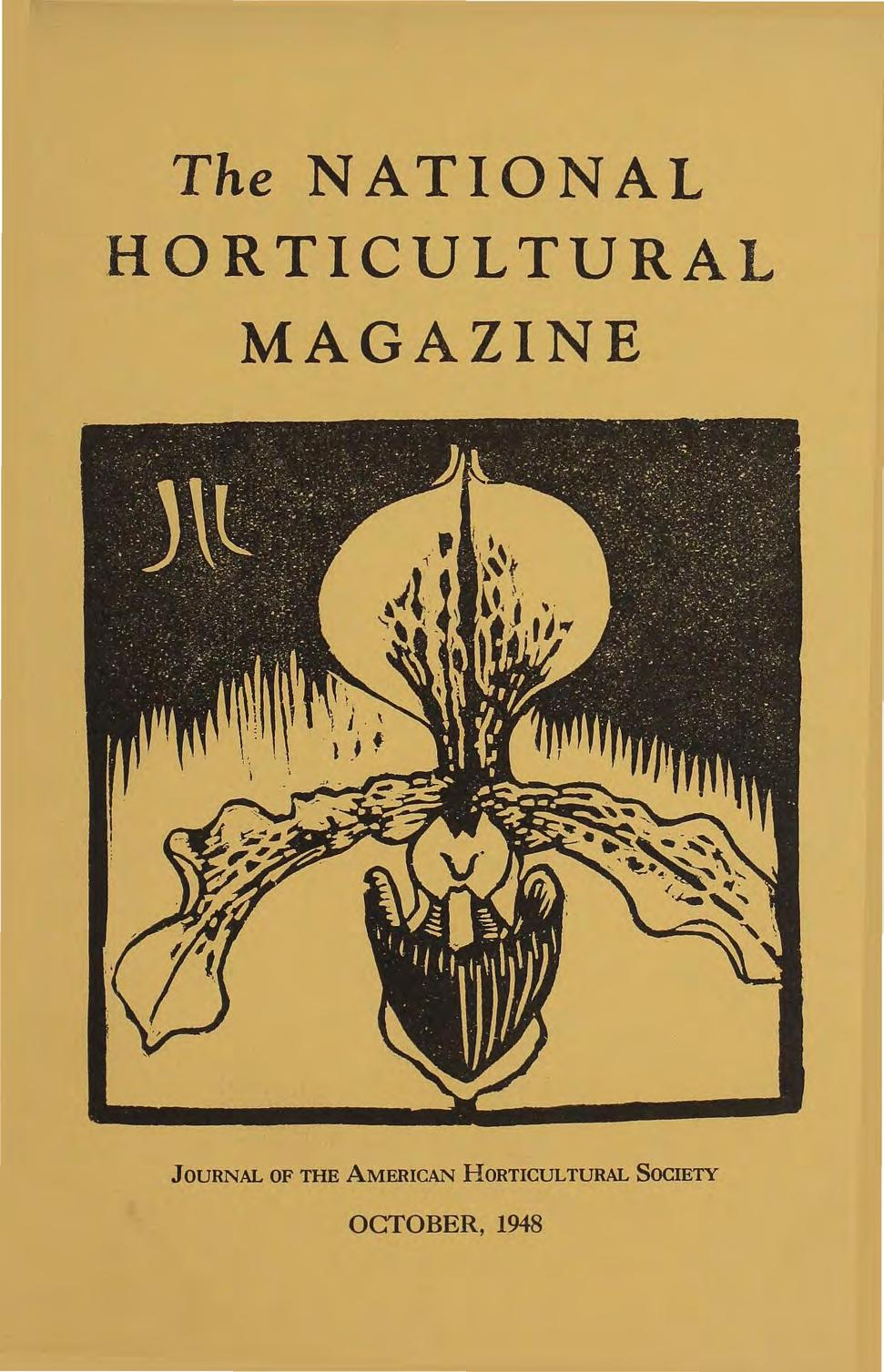 The NATIONAL HORTICULTURAL MAGAZINE JOURNAL OF